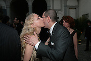 FRANCA SOZZANI; JONATHAN NEWHOUSE, Luomo Vogue 40th Anniversary dinner. Palazzo Litta. Milan. 22 June 2008 *** Local Caption *** -DO NOT ARCHIVE-© Copyright Photograph by Dafydd Jones. 248 Clapham Rd. London SW9 0PZ. Tel 0207 820 0771. www.dafjones.com.