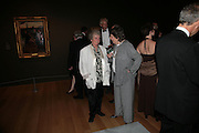 Maggi Hambling and Caryl Hubbard , Millais exhibition opening and Dinner. Tate Gallery. 24 September 2007. -DO NOT ARCHIVE-© Copyright Photograph by Dafydd Jones. 248 Clapham Rd. London SW9 0PZ. Tel 0207 820 0771. www.dafjones.com.