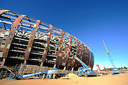 The outside of the stadium during the construction of Soccer City Stadium, Johannesburg - venue for FIFA 2010 South Africa World Cup Final.