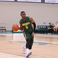 4th year guard Brandon Tull (5) of the Regina Cougars in action during the home game on November  5 at Centre for Kinesiology, Health and Sport. Credit: /Arthur Images