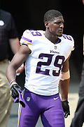 Minnesota Vikings cornerback Xavier Rhodes (29) comes onto the field for the second half during the 2017 NFL week 2 regular season football game against the against the Pittsburgh Steelers, Sunday, Sept. 17, 2017 in Pittsburgh. The Steelers won the game 26-9. (©Paul Anthony Spinelli)