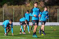 BENAHAVIS - 04-01-2017, Trainingskamp, AZ, AZ speler Stijn Wuytens, AZ speler Pantelis Hatzidiakos, AZ speler Jeremy Helmer.