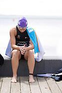 Lauren PARKER 01:06:02. Urban Geelong ITU Sprint Triathlon Premium Oceania Cup. 2012 Geelong Multi Sport Festival. Eastern Beach, Geelong, Victoria, Australia. 12/02/2012. Photo By Lucas Wroe
