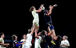Harriet Millar-Mills of England catches the ball - Mandatory by-line: Robbie Stephenson/JMP - 04/02/2017 - RUGBY - Twickenham - London, England - England v France - Women's Six Nations