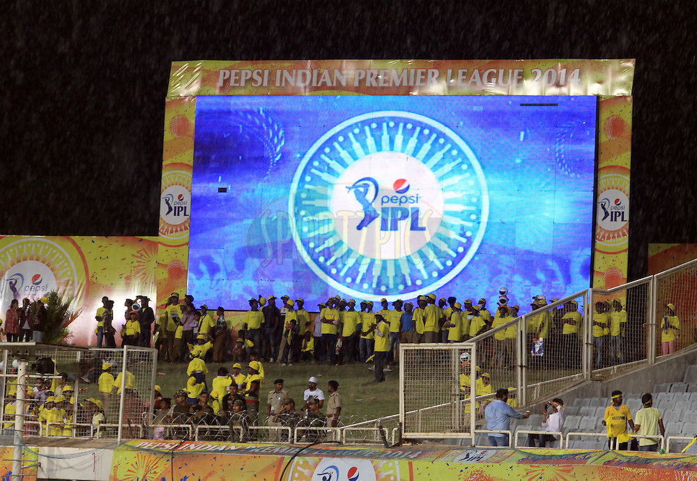 A electronic screen during match 21 of the Pepsi Indian Premier League Season 2014 between the Chennai Superkings and the Kolkata Knight Riders  held at the JSCA International Cricket Stadium, Ranch, India on the 2nd May  2014<br /> <br /> Photo by Arjun Panwar / IPL / SPORTZPICS<br /> <br /> <br /> <br /> Image use subject to terms and conditions which can be found here:  http://sportzpics.photoshelter.com/gallery/Pepsi-IPL-Image-terms-and-conditions/G00004VW1IVJ.gB0/C0000TScjhBM6ikg