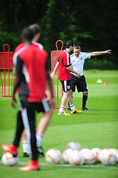 Bristol City's first team coach, John Pemberton giving instructions - Photo mandatory by-line: Dougie Allward/JMP - Tel: Mobile: 07966 386802 27/06/2013 - SPORT - FOOTBALL - Bristol -  Bristol City - Pre Season Training - Npower League One