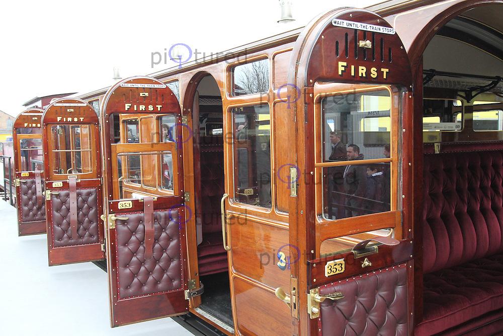1892 Metropolitan Railway Jubilee carriage, London Transport Museum Depot at Acton, 13 April 2013, (Photo by Richard Goldschmidt)