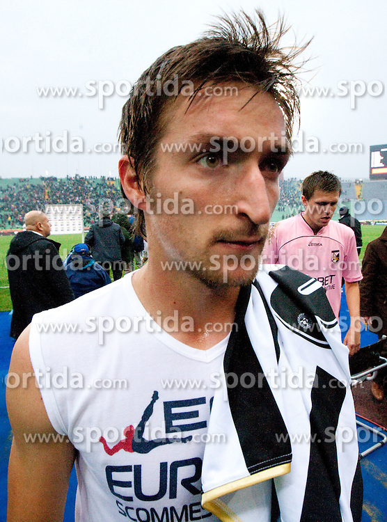 Armin Bacinovic and Josip Ilicic of Palermo during football match between Udinese Calcio and Palermo in 8th Round of Italian Seria A league, on October 24, 2010 at Stadium Friuli, Udine, Italy.  Udinese defeated Palermo 2 - 1. (Photo By Vid Ponikvar / Sportida.com)