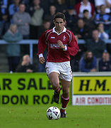 Peter Spurrier Sports  Photo.email pictures@rowingpics.com.Tel 44 (0) 7973 819 551.Nationwide Division 2 .Wycombe Wanders FC v Swindon Town FC..27-10-2001.1st Half..Danial Invincible.