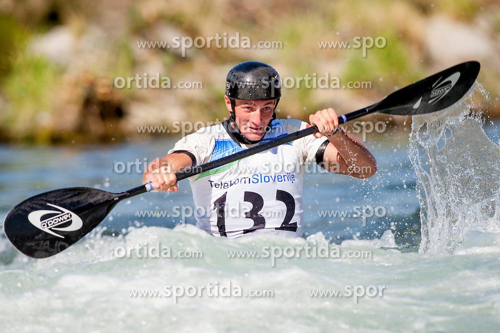 Grzegorz Polaczyk of Poland during Kayak(K1) Man semi-final race at ICF Canoe Slalom World Cup Sloka 2013, on August 17, 2013, in Tacen, Ljubljana, Slovenia. (Photo by Urban Urbanc / Sportida.com)