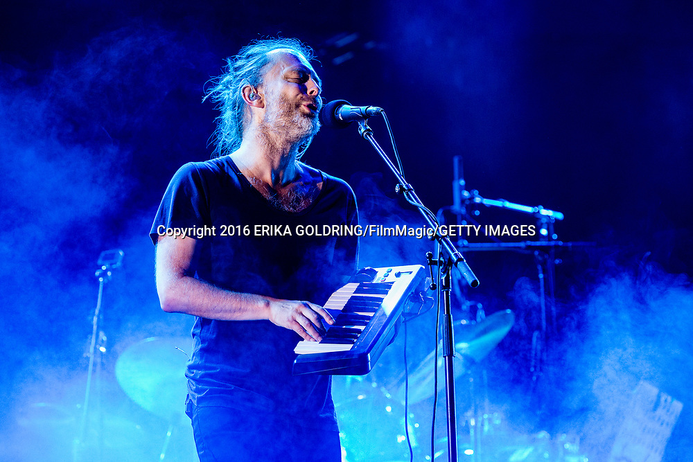Thom Yorke of Radiohead performs during Austin City Limits Festival at Zilker Park on September 30, 2016 in Austin, TX.