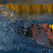 Ryan Lochte of USA winning the Men's 400m IM at the World Swimming Championships in Rome, Italy on Sunday, August 2, 2009. Photo Tim Clayton..