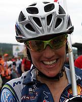 Sykkel , 20 August 2005 , Birkebeinerrittet ,<br /> UCI Mountain Bike Marathon , World Championships ,<br /> Lillehammer - Norway ,<br /> <br /> Gunn - Rita Dahle , Norge ble verdensmester.