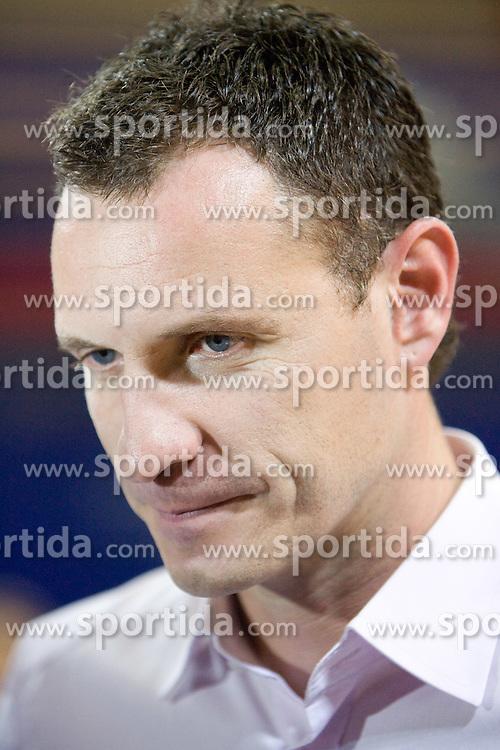 Coach of Helios Rado Trifunovic at basketball match in 6th Round of NLB League  between KK Helios Domzale and KK Hemofarm STADA Vrsac , on November 7, 2009, in Dvorana Komunalnega centra, Domzale, Slovenia.  Helios lost 60:85. (Photo by Vid Ponikvar / Sportida)