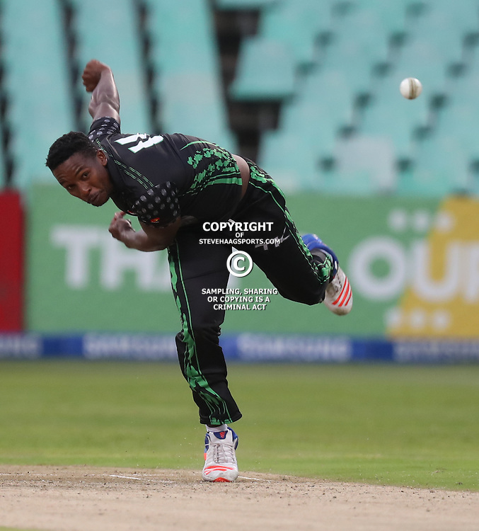 Mthokozisi Shezi of Hollywoodbets Dolphins during the Hollywoodbets Dolphins and Warriors T20 T20 Challenge.Sahara Stadium, Kingsmead Durban, South Africa.13 November 2016 - (Photo by Steve Haag)