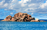Granite rocks of saint pierre island in seychelles indian ocean