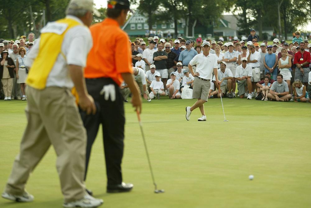 2003 US Amateur Championship.Finals.Oakmont Country Club.Oakmont, PA.Saturday, August 23, 2003.photograph by Darren Carroll