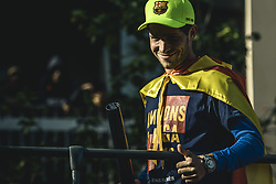 April 30, 2018 - Barcelona, Catalonia, Spain - FC Barcelona midfielder SERGI ROBERTO during the FC Barcelona's open top bus victory parade after winning the LaLiga with their eighth double in the club history. (Credit Image: © Matthias Oesterle via ZUMA Wire)