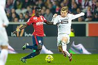 Idrissa Gueye / Pedro Henrique - 15.03.2015 - Lille / Rennes - 29e journee Ligue 1<br /> Photo : Andre Ferreira / Icon Sport