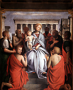 Madonna. Bartolommeo Suardi Bramantino (c1450-1536) Italian painter, Lombard school.