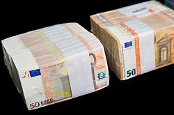 New banknotes for 50 EUR, on April 3, 2017 in Banka Slovenije, Ljubljana, Slovenia. Photo by Vid Ponikvar / Sportida