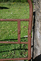 Rusty field gate on a farm in County Westmeath in Ireland
