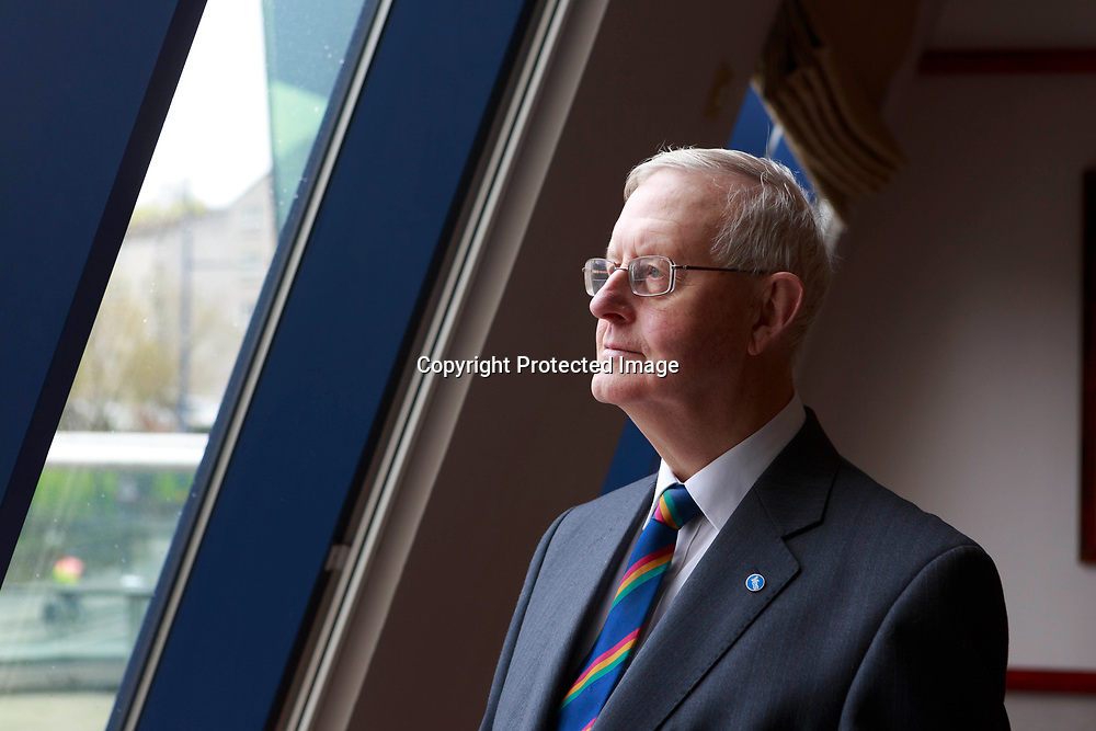 SNP leader Gordon Wilson Speech.<br /> Former SNP leader Gordon Wilson to outline his plan for an EU referendum. He wants a say on EU membership after a 'yes' vote for Scottish independence Photographed in MacDonald Hotel on 22/04/2014, Edinburgh. Pako Mera