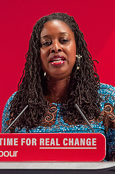 © Licensed to London News Pictures. 26/11/2019. London, UK. Dawn Butler takes the stand at the Bernie Grant Arts Centre in Tottenham to launch Labour's new Race and Faith manifesto.<br /> Labour Leader, Jeremy Corbyn alongside Shadow Home Secretary, Diane Abbott and Shadow Equalities Women's Secretary, Dawn Butler launch Labour's new Race and Faith manifesto which is the culmination of various consultations held across the country. Photo credit: Peter Manning/LNP