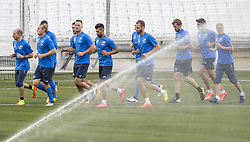 July 26, 2017 - Marseille, FRANCE - Oostende's players pictured in action during a training session of Belgian first division soccer team KV Oostende ahead of the first leg of the third qualifying round for the UEFA Europa League competition, Wednesday 26 July 2017 in Marseille. KV Oostende plays against Olympic Marseille on Thursday. BELGA PHOTO LAURIE DIEFFEMBACQ (Credit Image: © Laurie Dieffembacq/Belga via ZUMA Press)