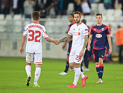 BORDEAUX, FRANCE - Thursday, September 17, 2015: Liverpool's Danny Ings looks dejected after the 1-1 draw with FC Girondins de Bordeaux the UEFA Europa League Group Stage Group B match at the Nouveau Stade de Bordeaux. (Pic by David Rawcliffe/Propaganda)