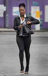 © Licensed to London News Pictures. 1/02/2017. London, UK. Shanique Pearson arrives at Hammersmith Magistrates' Court. Ms Pearson will hear a verdict today on various motoring offences after she was filmed confronting BBC broadcaster Jeremy Vine who was cycling in front of her car in August 2016 in Kensington. Photo credit: Peter Macdiarmid/LNP