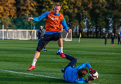 Robert Beric during practice session of Slovenian national football team, on October 8, 2018 in National Football Center Brdo, Kranj, Slovenia. Photo by Urban Meglic / Sportida