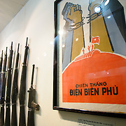 At right is a propaganda poster celebrating the Vietnamese victory over the French in 1954 at Dien Bien Phu. At left are weapons used in the battle. The Museum of the Vietnamese Revolution in the Tong Dan area of Hanoi, not far from Hoan Kiem Lake, was established in 1959 and is devoted to the history of the socialist revolutionary movement in Vietnam.