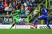 Forest Green Rovers new signing Keanu Marsh Brown  during the Pre-Season Friendly match between Forest Green Rovers and Cardiff City at the New Lawn, Forest Green, United Kingdom on 15 July 2015. Photo by Shane Healey.