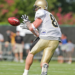 31 July 2009: New Orleans Saints tight end Jeremy Shockey (88) catches a pass during the opening day of New Orleans Saints training camp held at the team's practice facility in Metairie, Louisiana.