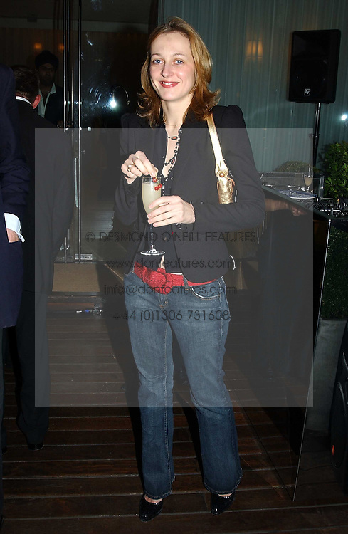 RITA KONIG at a party at The Sanderson Hotel on 9th June 2005 to launch 50 Gramercy Park North - Ian Schrager's show-stopping new residential project in New York City. Schrager, with the help of UK architect John Pawson, is building a block of 23 original residences facing Gramercy Park, inbetween two blocks of the Gramercy Park Hotel. <br /><br />NON EXCLUSIVE - WORLD RIGHTS