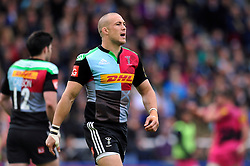 Mike Brown of Harlequins looks on - Photo mandatory by-line: Patrick Khachfe/JMP - Mobile: 07966 386802 04/10/2014 - SPORT - RUGBY UNION - London - The Twickenham Stoop - Harlequins v London Welsh - Aviva Premiership