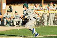 KELOWNA, BC - JULY 24: Nick Israel #10 of the Yakima Valley Pippins sruns for home plate against the the Kelowna Falcons at Elks Stadium on July 24, 2019 in Kelowna, Canada. (Photo by Marissa Baecker/Shoot the Breeze)