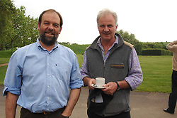 Left to right, CHARLES WHITBREAD and GEORGE STEPHENSON at a charity shoot in aid of the charity Save The Rhino held at the West London Shooting School, Northolt, Middlesex on 30th May 2008.<br />