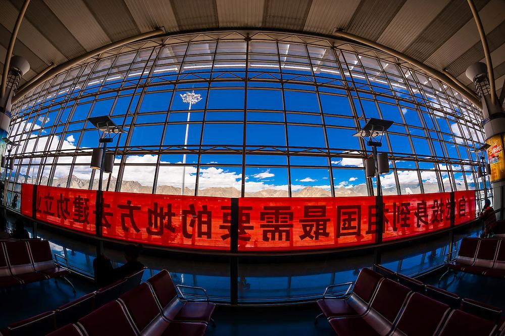 Lhasa Gonggar Airport, Tibet (Xizang), China.