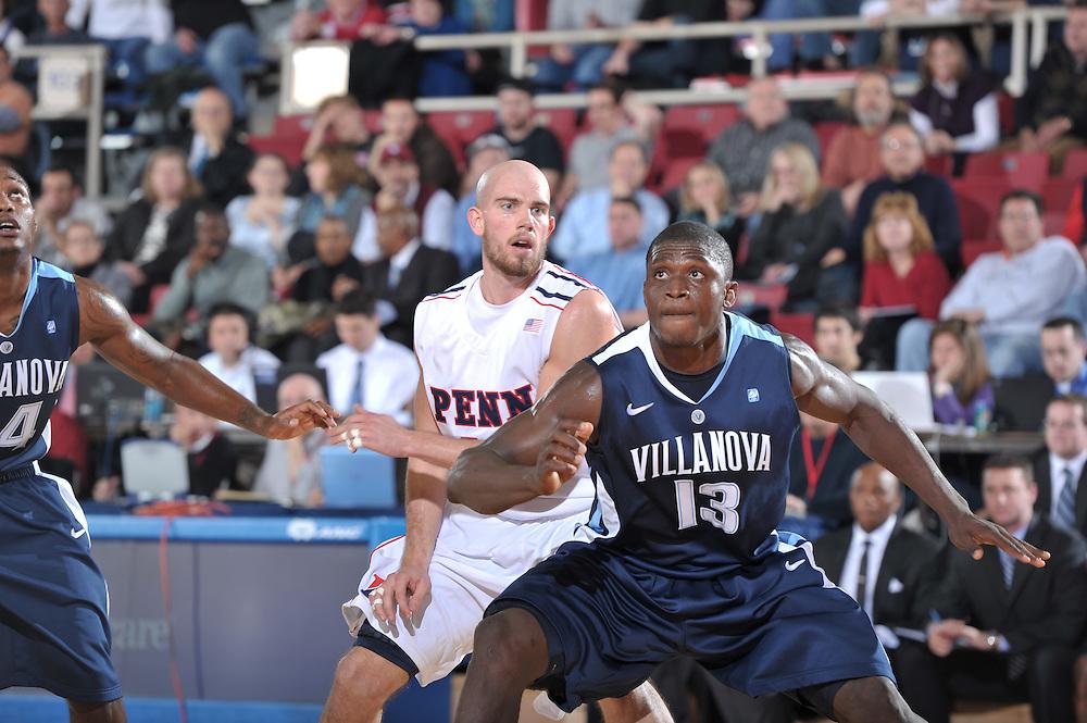 PHILADELPHIA - DECEMBER 08:  Villanova defeated penn 65-53 at the Palestra on December 8, 2010 in Philadelphia, Pennsylvania. (Photo by Drew Hallowell)