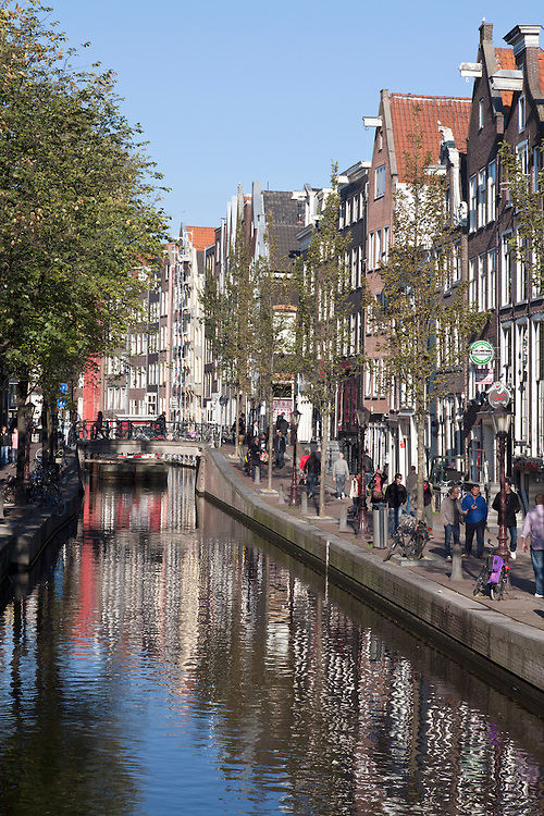 Reflections along one of Amsterdam's Old Town area canals.