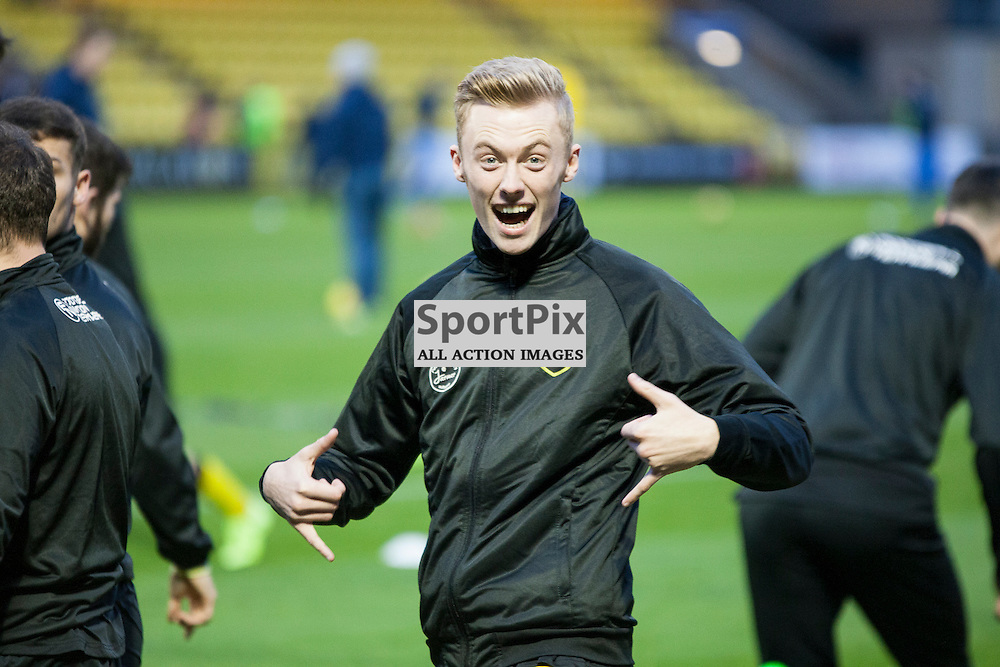 Livingston v Queen of the South, Scottish Championship, 2 January 2016, Ross Millen (Livingston, 2) before the Livingston v Queen of the South Scottish Championship match played at the Toni Macaroni Arena, © Chris Johnston | SportPix.org.uk