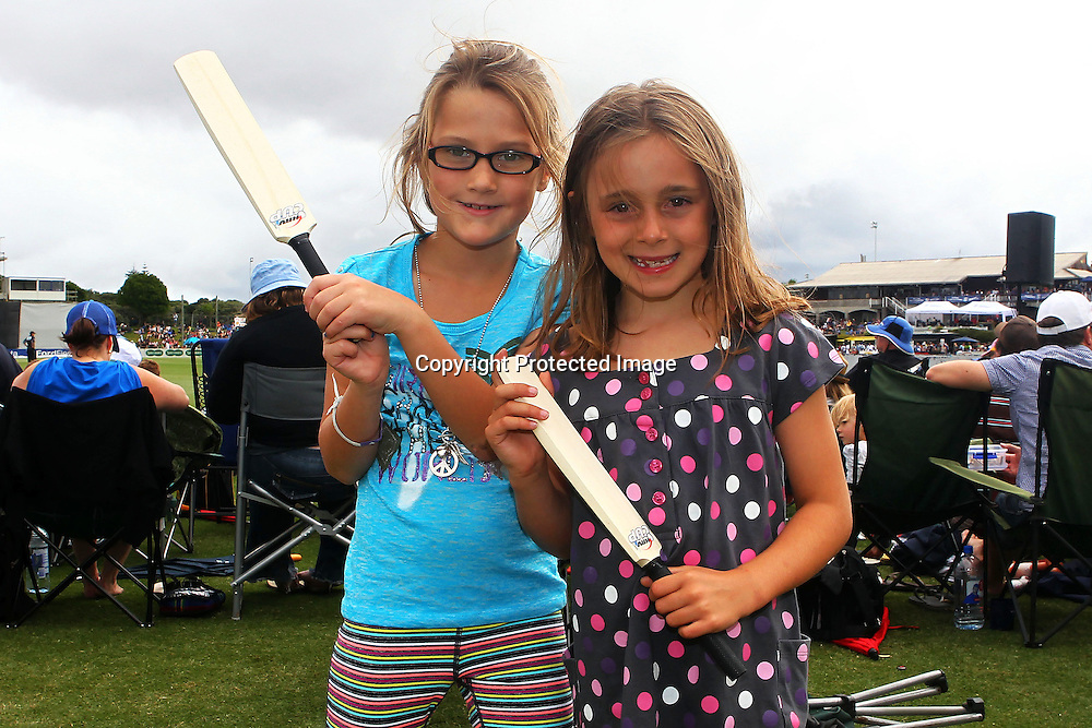 Spectators during the HRV Cup FINAL match between the Auckland Aces v Canterbury Wizards. Men's domestic Twenty20 cricket. Colin Maiden Park, New Zealand. Sunday 22 January 2012. Ella Brockelsby / photosport.co.nz