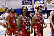 DESCRIZIONE : Capo dOrlando Lega A 2014-15 Orlandina Basket Olimpia Emporio Armani EA7 Milano<br /> GIOCATORE : David Moss Team<br /> CATEGORIA : Delusione Team<br /> SQUADRA : Orlandina Basket EA7 Emporio Armani Olimpia Milano<br /> EVENTO : Campionato Lega A 2014-2015 <br /> GARA : Orlandina Basket EA7 Emporio Armani Olimpia Milano<br /> DATA : 19/04/2015<br /> SPORT : Pallacanestro <br /> AUTORE : Agenzia Ciamillo-Castoria/G.Pappalardo<br /> Galleria : Lega Basket A 2014-2015<br /> Fotonotizia : Capo dOrlando Lega A 2014-15 Orlandina Basket EA7 Emporio Armani Olimpia Milano