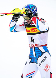 17.02.2019, Aare, SWE, FIS Weltmeisterschaften Ski Alpin, Slalom, Herren, 2. Lauf, im Bild Alexis Pinturault (FRA) // Alexis Pinturault of France reacts after his 2nd run of men's Slalom of FIS Ski World Championships 2019. Aare, Sweden on 2019/02/17. EXPA Pictures © 2019, PhotoCredit: EXPA/ Johann Groder
