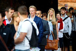 © Licensed to London News Pictures. 09/07/2015. London, UK. Commuters queuing  for buses outside Waterloo Station as tube strike shuts down the entire London Underground network on Thursday, July 9, 2015. The strike called by RMT, TSSA and Unite unions is a 27-hour stoppage by about 20,000 Tube staff and shuts down the entire London Underground network. Photo credit: Tolga Akmen/LNP