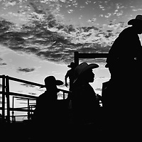 Men gather at a Mexican-style rodeo in Mendota in Fresno County in Californi'a Central Valley, CA, Sunday, Oct. 9, 2016. One of the worst droughts in California history officially ended this spring in all of the state's counties except Fresno, Kings, Tulare and Tuolumne. <br />