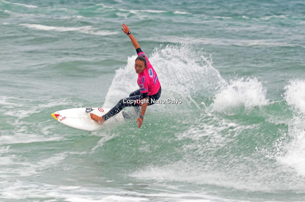 Hawaiian Pro Surfer Carissa Moore at Roxy Pro Biarritz 2012