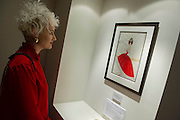 The Private view for Drawing on Style: Four Decades of Elegance - an exhibition of original vintage fashion illustrations from Post War 1940s through to the 1970s organized by GRAY M.C.A, leading specialists in Fashion Illustration.  It includes more than 40 original works by some of the leading illustrators of the time from Britain, Europe and America including René Bouché, René Gruau and Carl Erickson for publications including Vogue as well as advertising work for L'Oreal and other famous names in Haute Couture.  There are also a selection of original designs by designers including Dior, Biba & Zandra Rhodes. Coinciding with London Fashion Week, the exhibition runs from Thursday 11th - Tuesday 16th September 2014 with prices from £300-£10,000. Gallery 8, St James's, London. 10 Sept 2014. Guy Bell, 07771 786236, guy@gbphotos.com